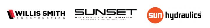 Sponsor logos: Willis Smith Construction, Sun Hydraulics, Sunset Auto Group